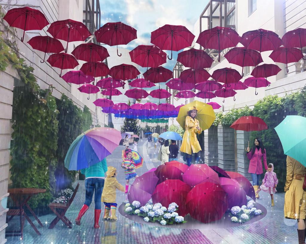 【リゾナーレ八ヶ岳】八ヶ岳アンブレラスカイ2018 パース(雨・人あり)_1