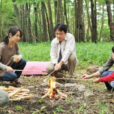 カモシカの森でたき火
